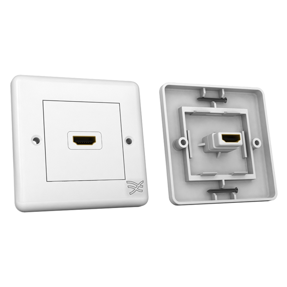 Cablesson HDMI Wall Plate Single Connector S - White